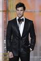 Anna Kendrick, Taylor Lautner at the Golden Globes