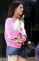 Ashley Greene is Pretty in Pink with Her Perky Pooch - twilight-series photo