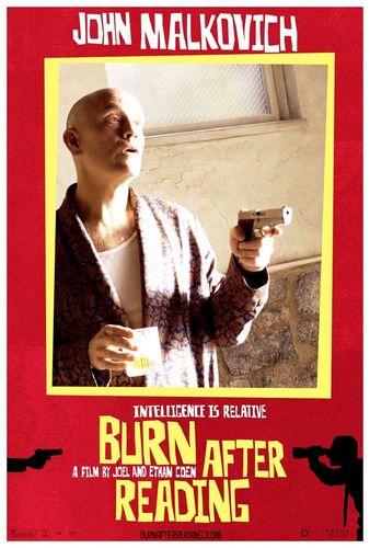 Burn After Membaca Poster