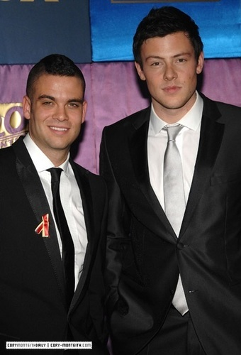 Cory (with Mark) at Golden Globe Awards Party (2010)