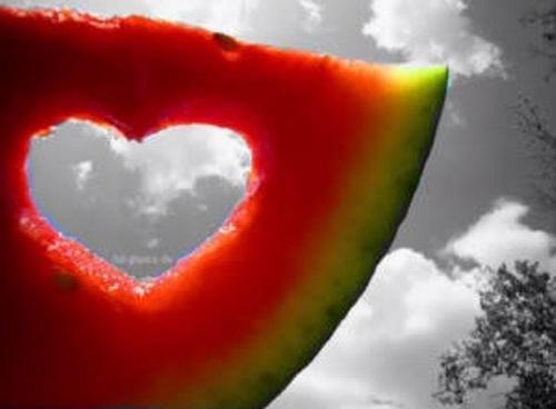 হৃদয় in a Melon