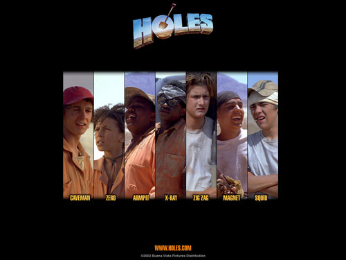 Holes wallpaper titled Holes Wallpaper- Characters
