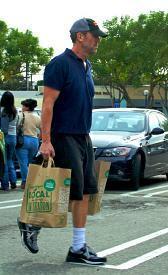 Hugh Laurie shops Whole Foods, Los Angeles (January 11, 2010)