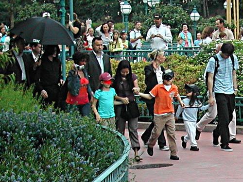 Jackson Kids at Disneyland in Paris