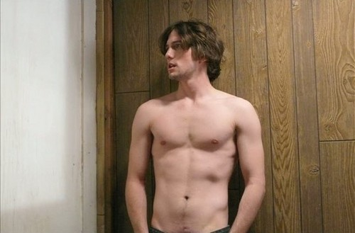 "Jackson Rathbone shirtless stills on the set of ""Hurt"""