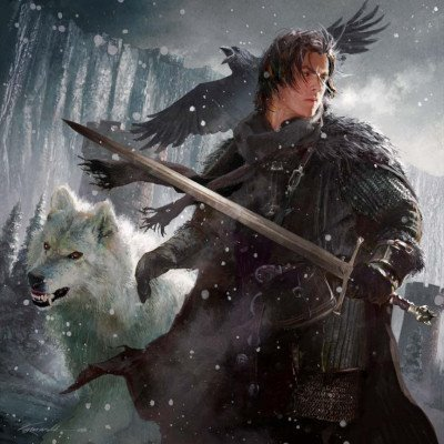 Jon and Ghost - a-song-of-ice-and-fire Fan Art