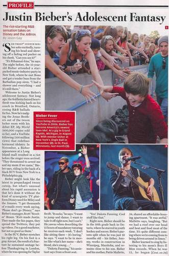 Justin Bieber in Rolling Stone Magazine
