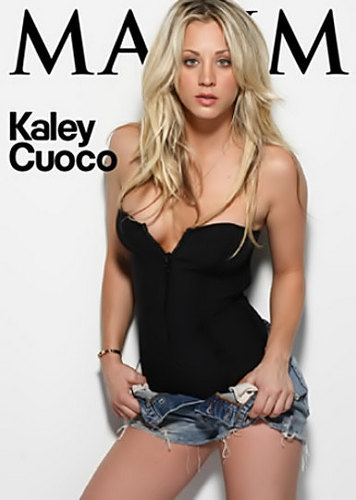 生活大爆炸 壁纸 titled Kaley Cuoco in MAXIM