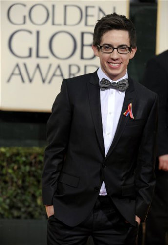 Kevin McHale @ 67th Golden Globes - Glee 344x500