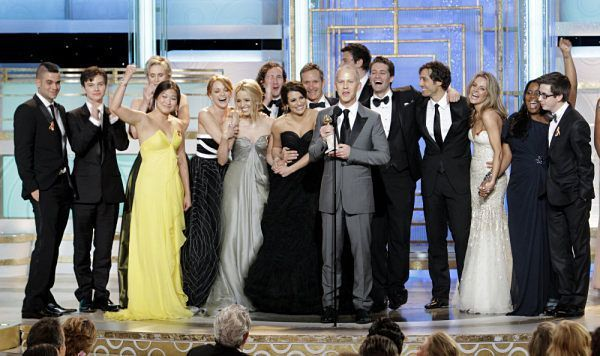 Lea and Glee Cast @ 67th Golden Globe Awards - Lea Michele 600x356