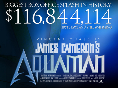 Limited Edition Aquaman movie poster