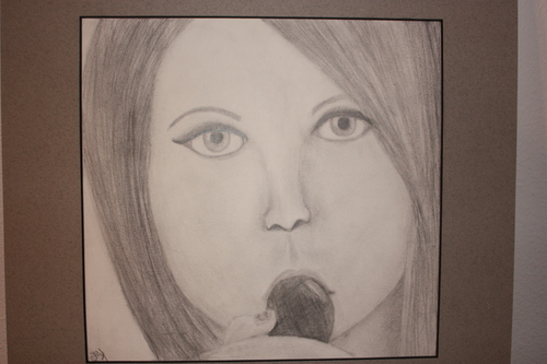 My drawing of Miss Hayley