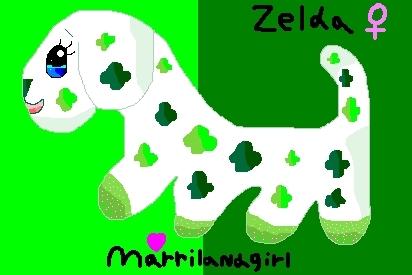 My webkinz Clover anjing, anak anjing drawing!!:D