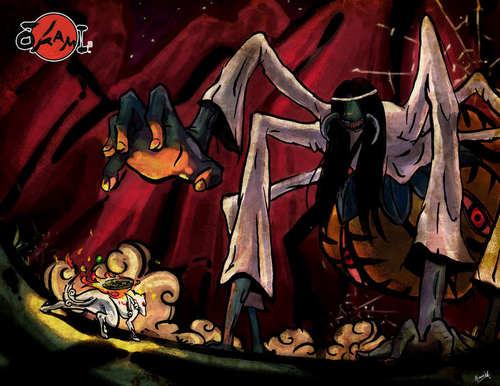 Ammy vs The паук Queen