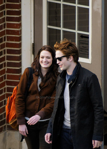 Pictures of Rob on the Twilight Set