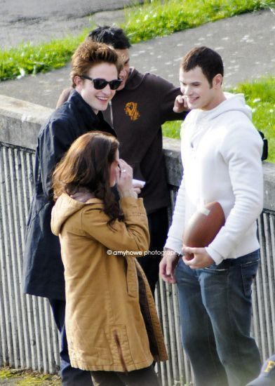 Robert Pattinson - Twilight set