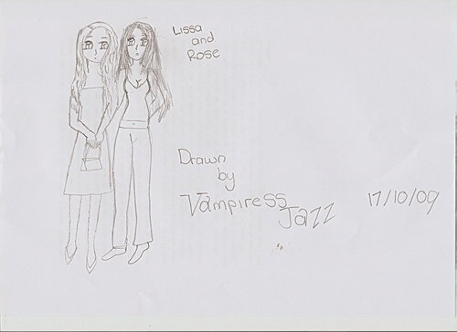 Rose and Lissa drawn par me! vampiressjazz manga style!