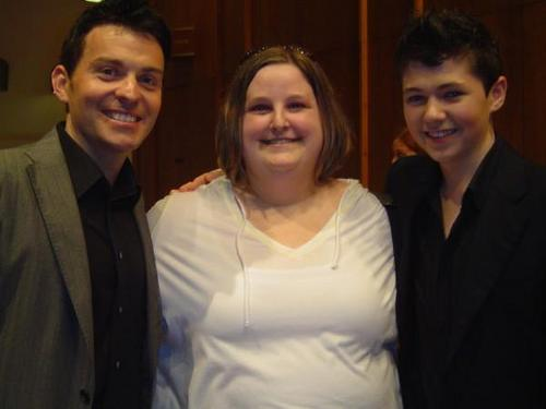 Ryan and Damian with a Fan