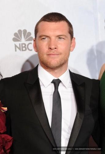 Sam at 2010 Golden Globes Awards Press Room