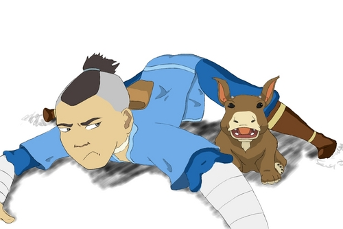 Sokka and the Moose-Lion Cub