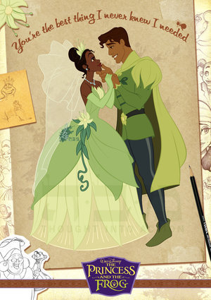 The Princess and the Frog wallpaper titled Tiana and Naveen
