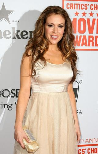 alyssa milano-Heineken At Critic's Choice Movie Awards After Party