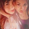 Ashley & Miley vs. Selena & Demi Foto entitled demi and selena