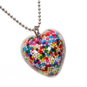cœur, coeur sprinkle collier
