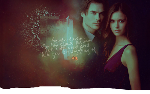 ian & nina - ian-somerhalder-and-nina-dobrev Wallpaper