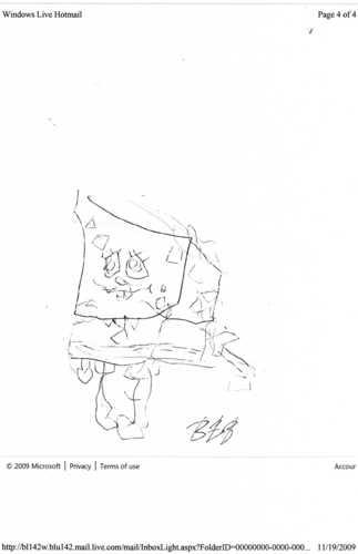my toe drawing