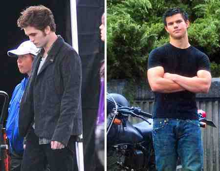 robert pattinson and taylor lautner in eclipse