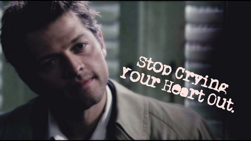 Castiel wallpaper entitled stop-crying-you-heart-out-cas