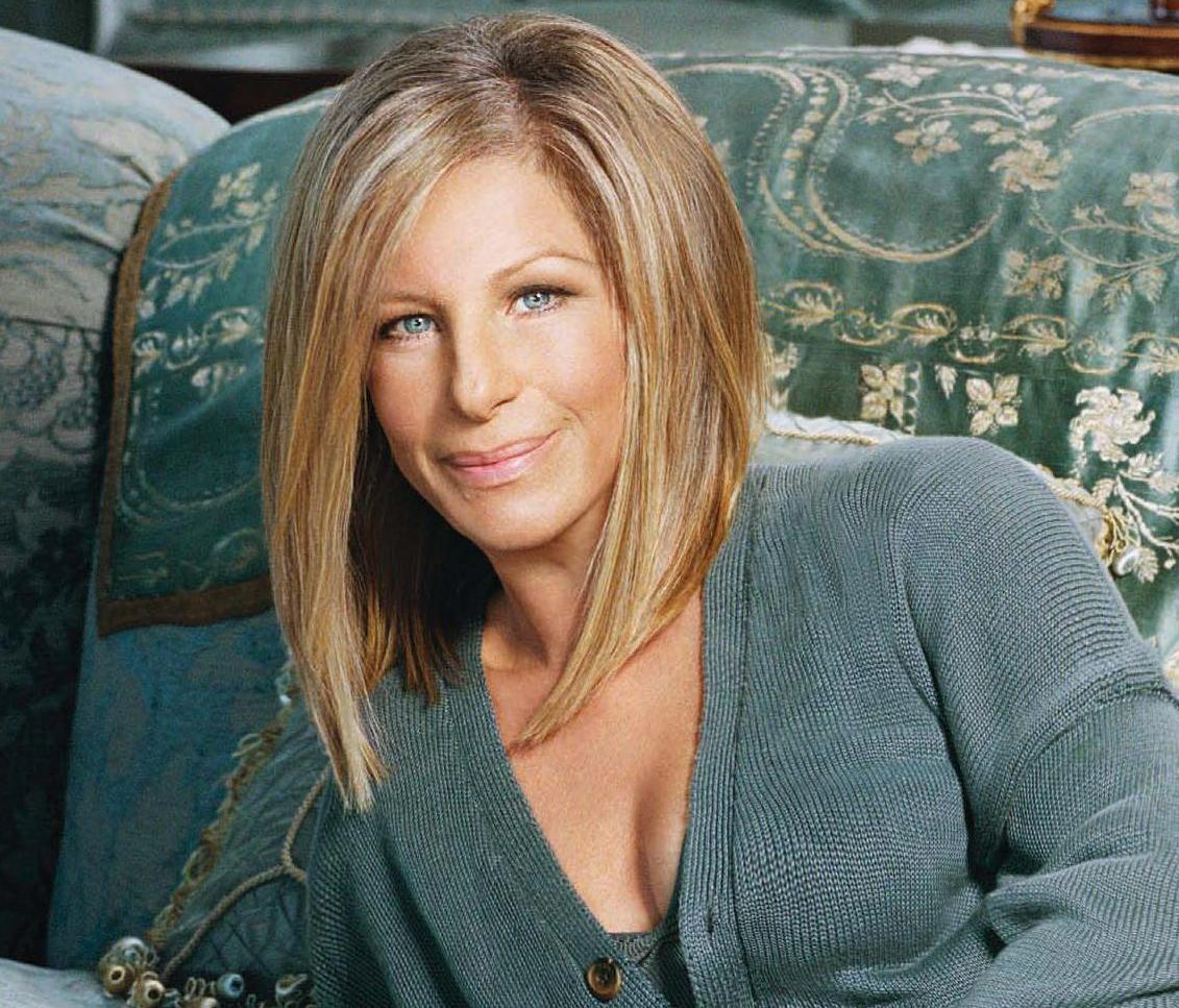 Barbara Streisand Inverted Bob Hairstyle Short