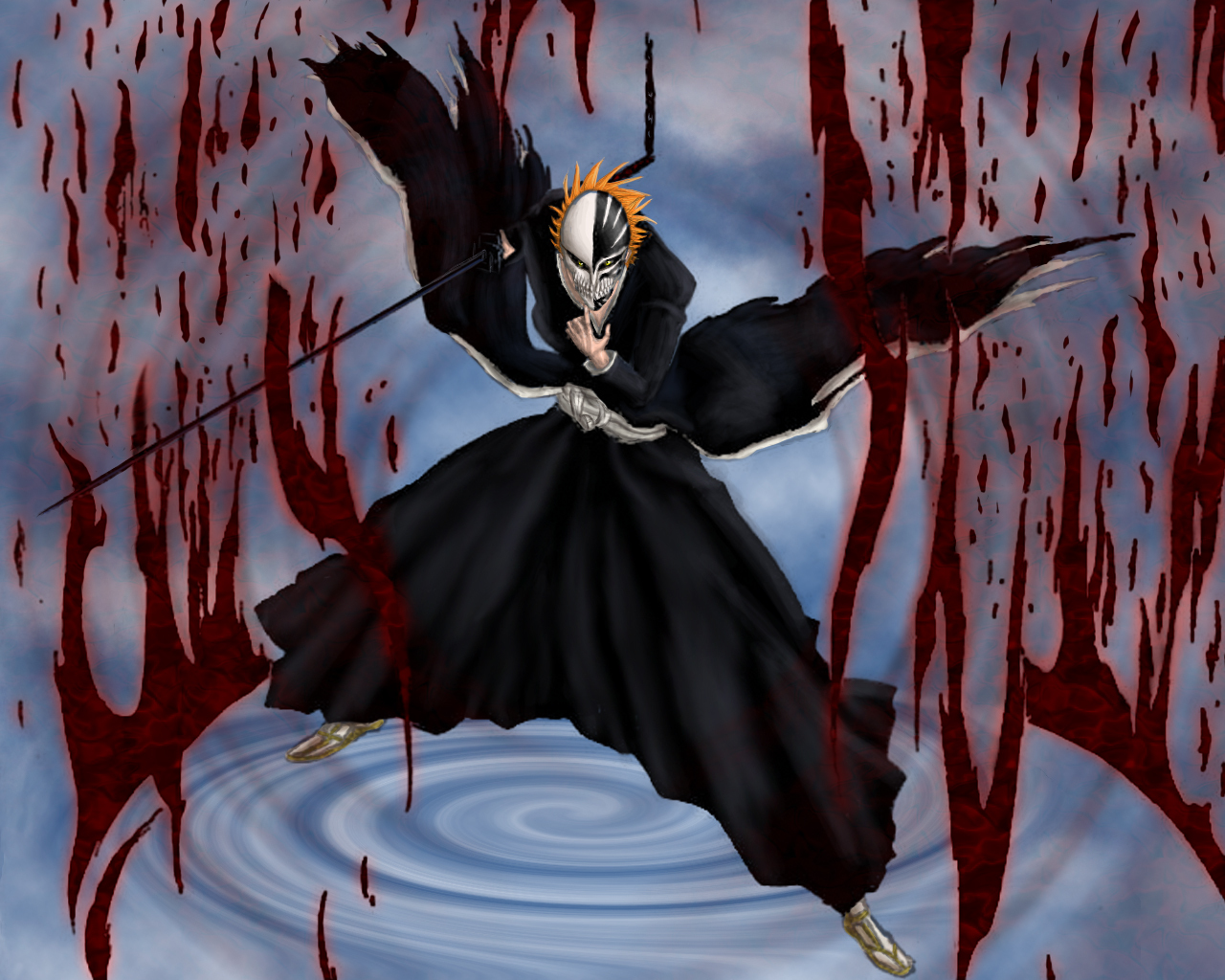 Bleach Ichigo Bankai Hollow Wallpaper