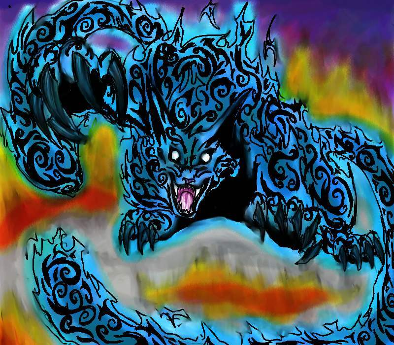 Two tailed beast
