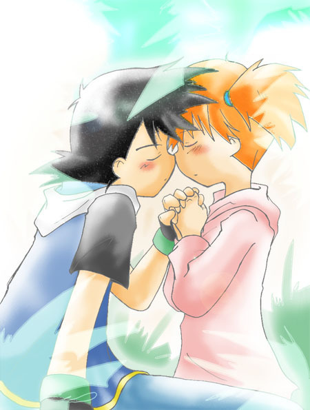 ash and misty kiss the girl № 334795