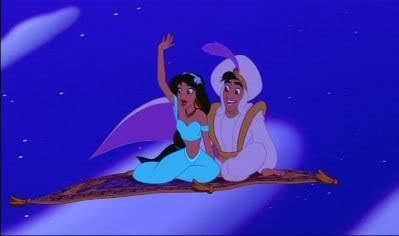 Which scene from a disney movie that got it39s own scene in for Aladdin carpet ride scene