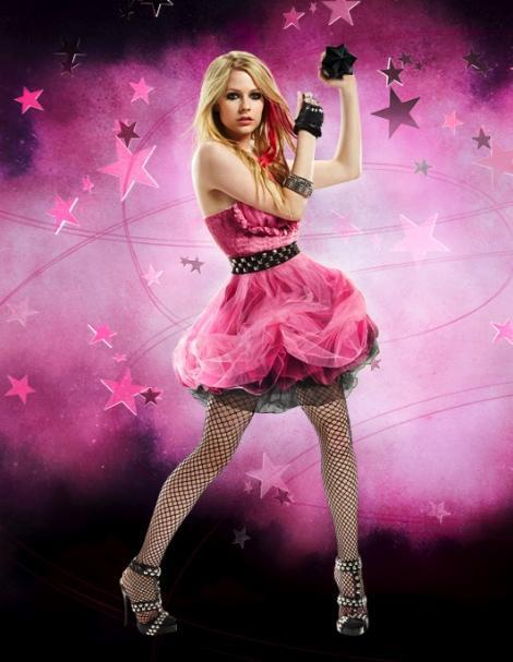 Pink Black Star Dress