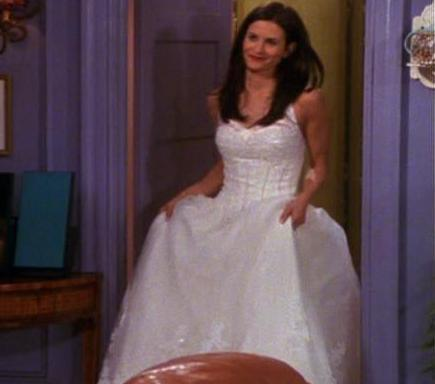 Friends The Nicest Monicas Wedding Dress Was
