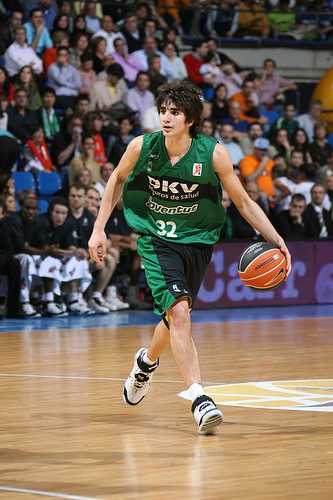 Ricky became the youngest player to play in the ACB/Spanish Pro-League at what age?