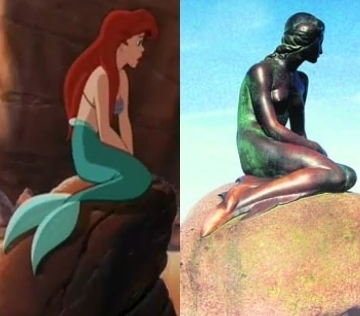 What artist sculpted the statue of the Little Mermaid located in Copenhagen, Denmark?