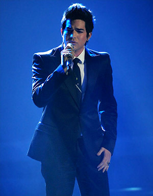 Adam Lambert first sings since....