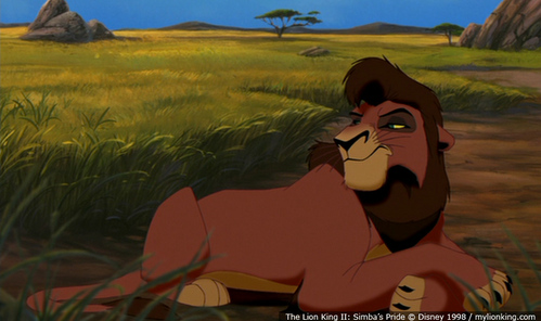 Who does the voice of adult Kovu?