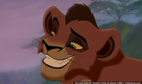 Who does the voice of young Kovu?