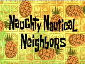"In the episode ""Nautical Neighbors"" what did squidward blow to patrick"