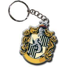 What Hogwarts house crest (from Harry Potter) is featured on this keychain?