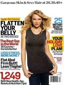 What magazine is Taylor on in this Picture?