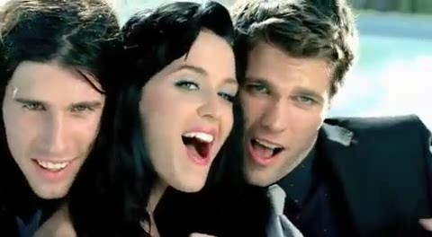 In the music video for Starstrukk, whose face does Katy Perry lick?
