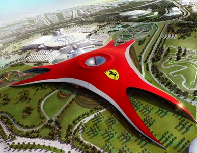 In which year will Ferrari World Abu Dhabi be open?