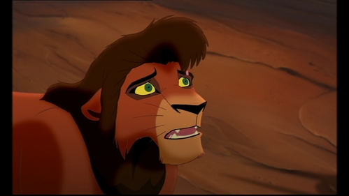 What happens to Kovu at the end of 'The Lion King 2'?